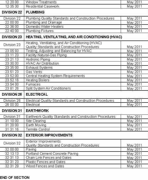Construction Spec Sheet Template Beautiful Residential Construction Specification Sheet