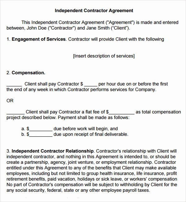 Construction Subcontractor Agreement Template Lovely 18 Subcontractor Agreement Templates