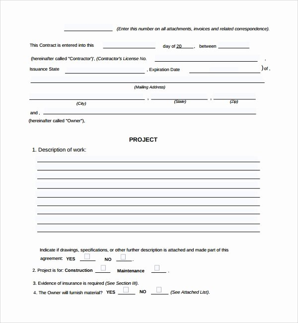 Construction Work order Template Awesome 6 Sample Construction Work order forms – Pdf