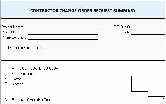 Construction Work order Template Best Of Extra Work order Template