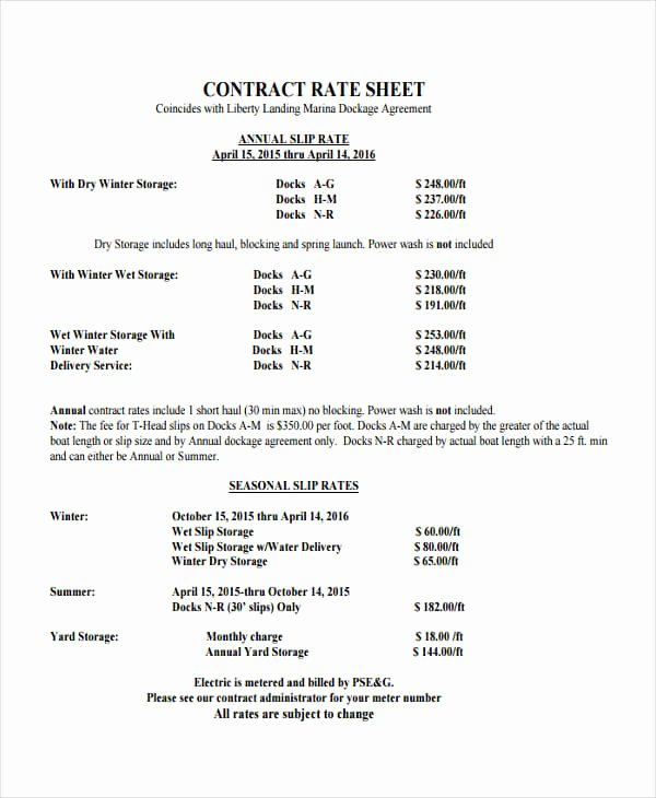 Consultant Fee Schedule Template Fresh Rate Card Templates Word Templates Docs
