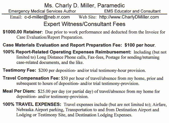 Consultant Fee Schedule Template Lovely Expert Witness Fee Schedule