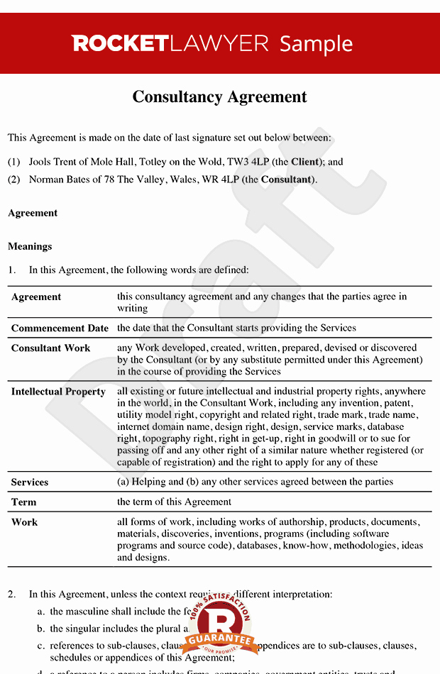 Consulting Agreement Template Short Beautiful Consultancy Agreement Template Contractor Agreement