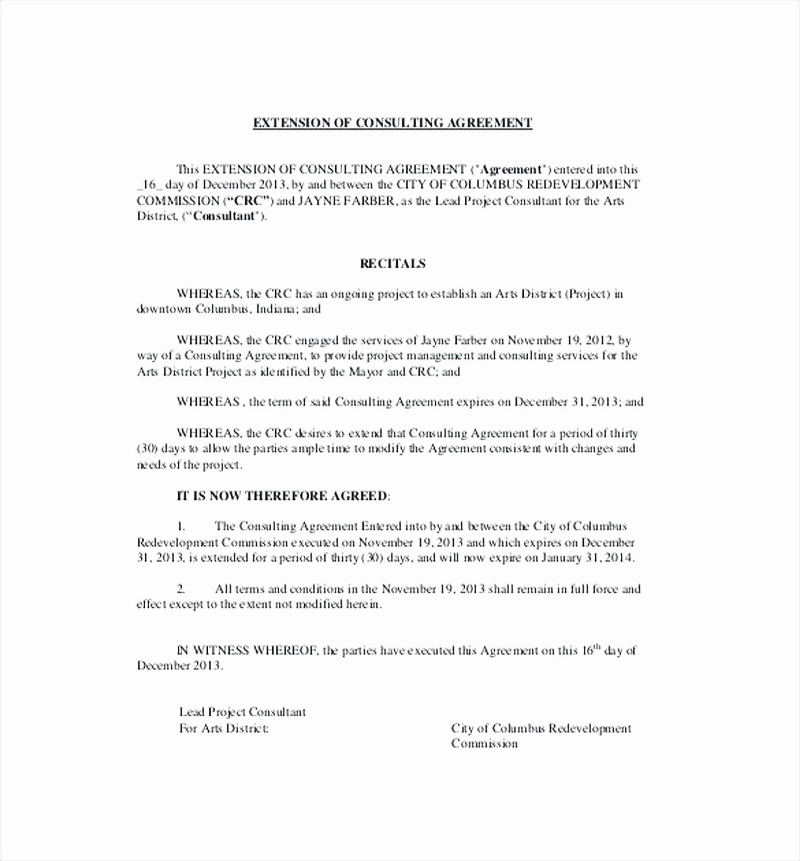 Consulting Agreement Template Short Fresh Beautiful Consulting Agreement Short form Template