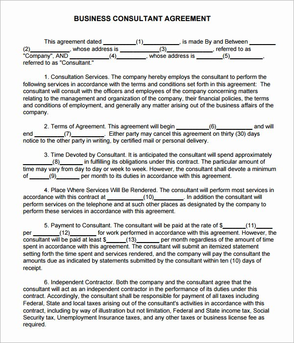 Consulting Agreement Template Short Lovely Consulting Agreement 7 Free Pdf Doc Download