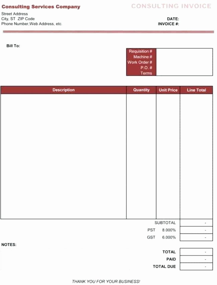 Consulting Invoice Template Word Awesome Template Excel Contractor Good Consulting Invoice