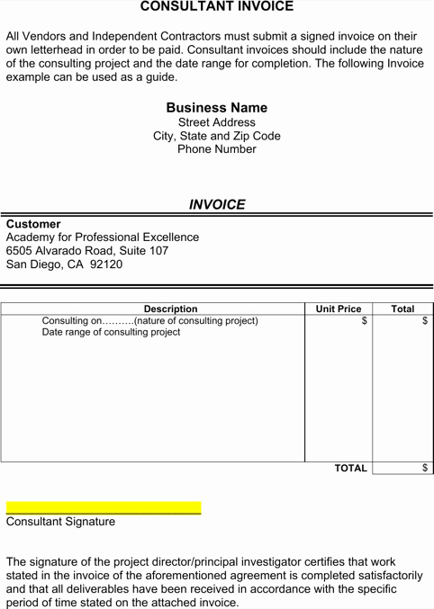 Consulting Invoice Template Word Best Of Consultant Invoice Template Templates&forms
