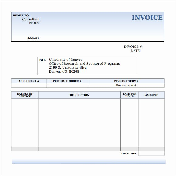 Consulting Invoice Template Word Elegant 15 Microsoft Invoice Templates Download for Free