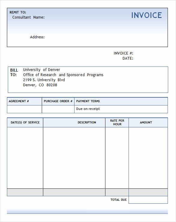 Consulting Invoice Template Word Fresh 8 Consulting Invoice Samples