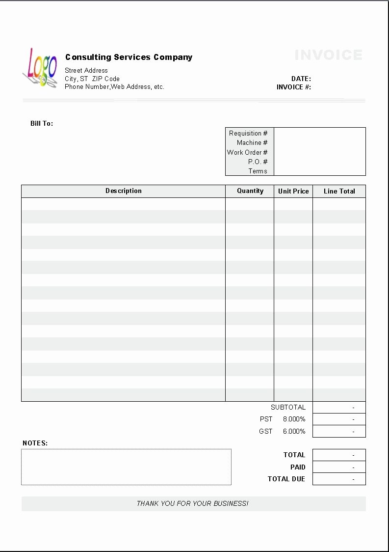 Consulting Invoice Template Word Unique Excel Based Consulting Invoice Template Excel Invoice