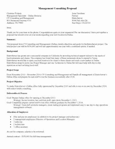 Consulting Proposal Template Doc Best Of Proposal Template Doc Templates Printable Sample