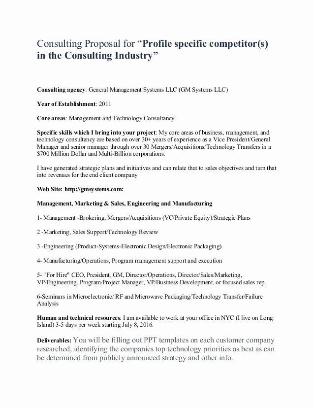 Consulting Proposal Template Doc Elegant Sample Consulting Proposal