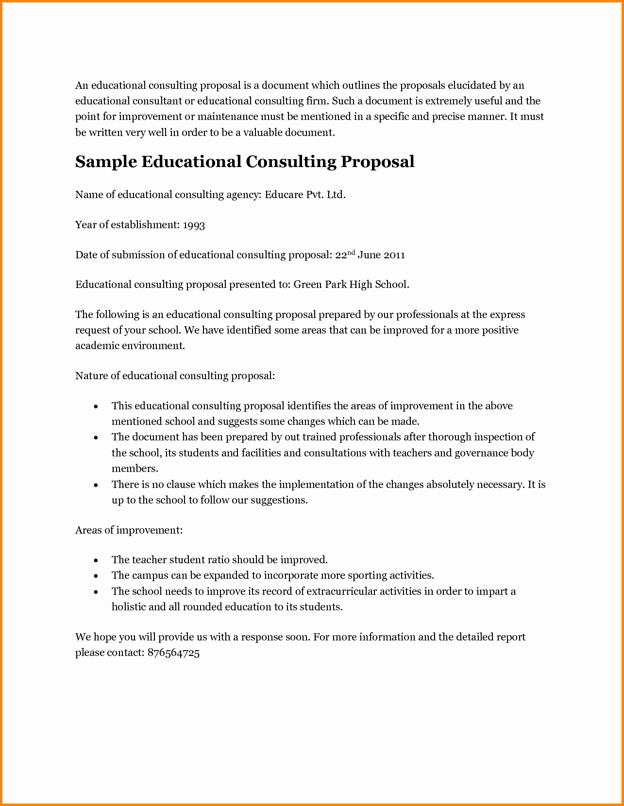 Consulting Proposal Template Doc Inspirational Business Consulting Proposal Template