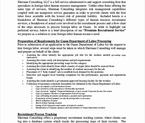 Consulting Proposal Template Doc Lovely Download Hr Consulting Proposal Template – Free Template