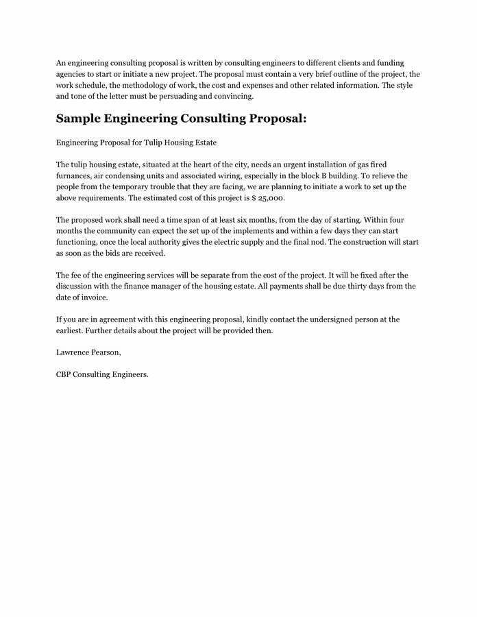 Consulting Proposal Template Doc New Consulting Proposal Template Free Documents for