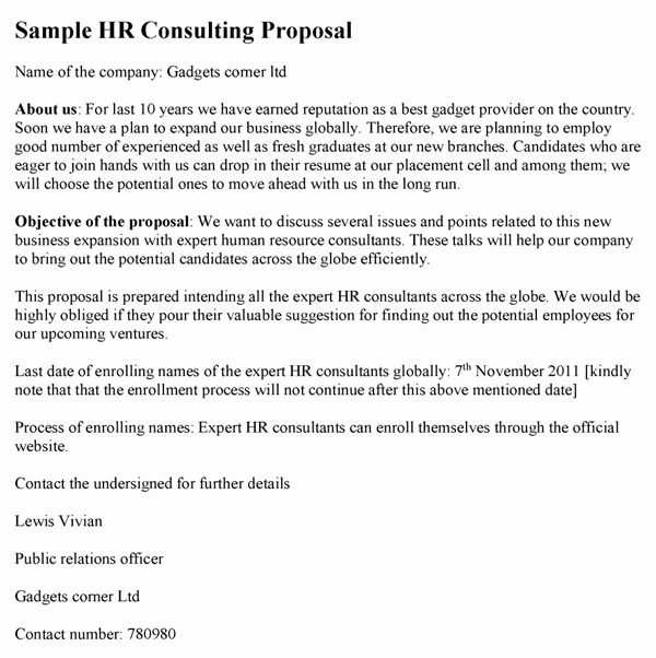 Consulting Proposal Template Doc New Consulting Proposal Template