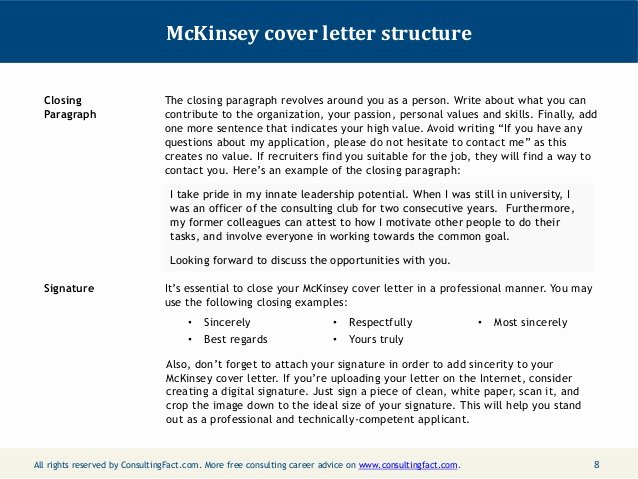 Consulting Proposal Template Mckinsey Fresh Cover Letter Mckinsey and Pany Line Writing Lab