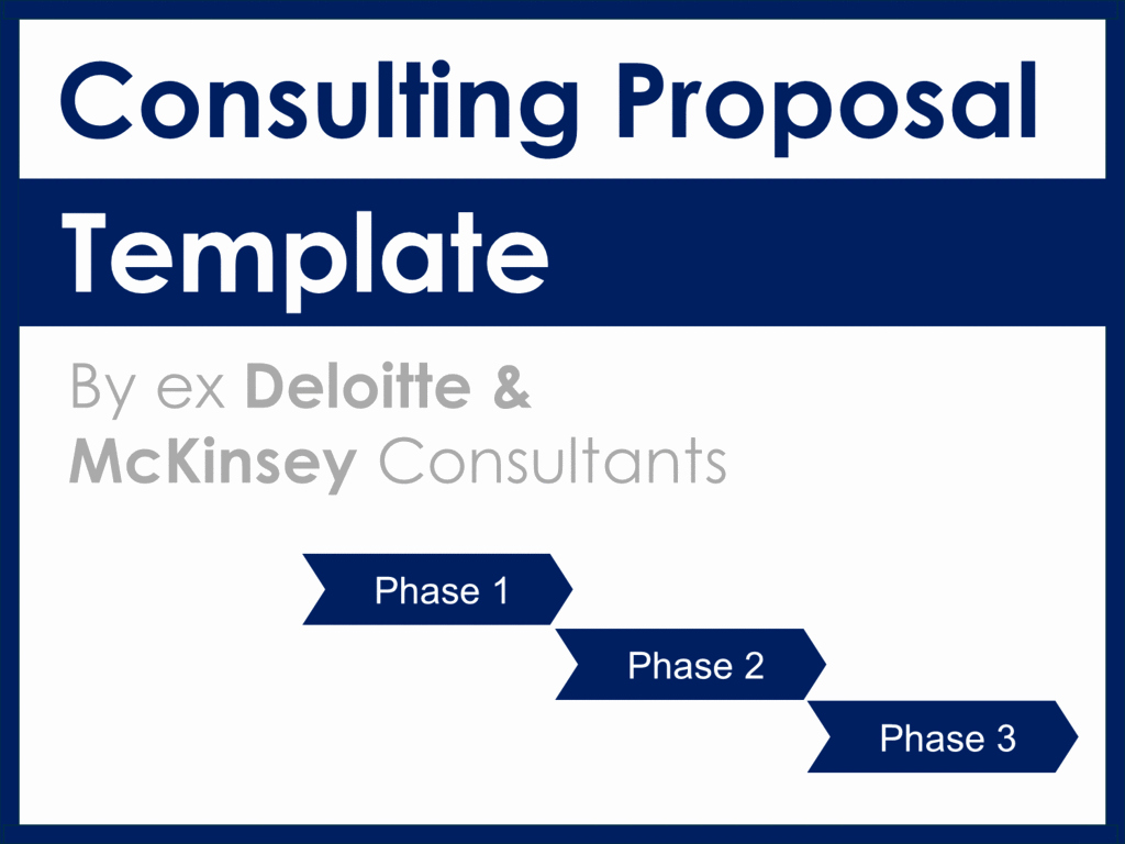 Consulting Proposal Template Mckinsey Luxury Project Management Documents Templates tools & Training