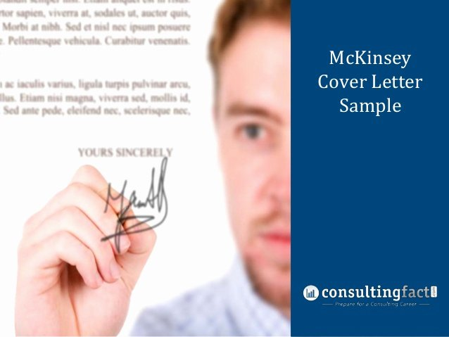 Consulting Proposal Template Mckinsey New Mckinsey Cover Letter Sample