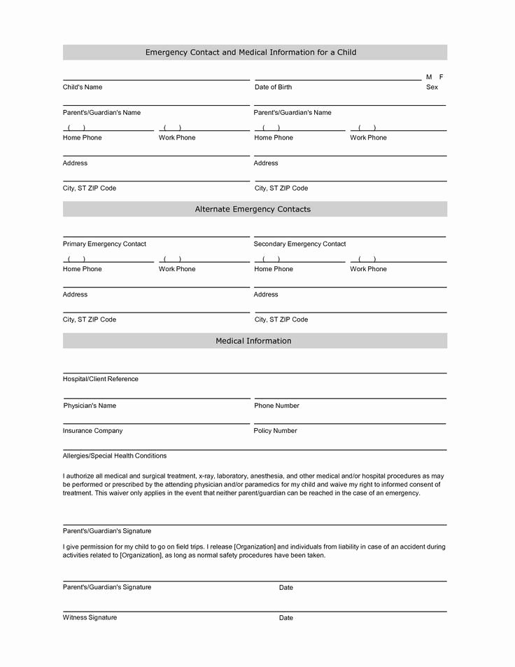 Contact Information form Template Luxury Free Student Information Sheet Template