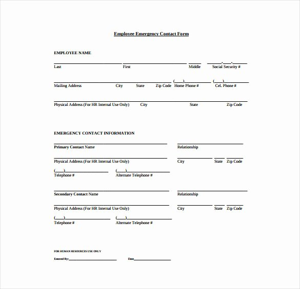 Contact Information form Template Unique 9 Contact Sheet Templates Doc Pdf