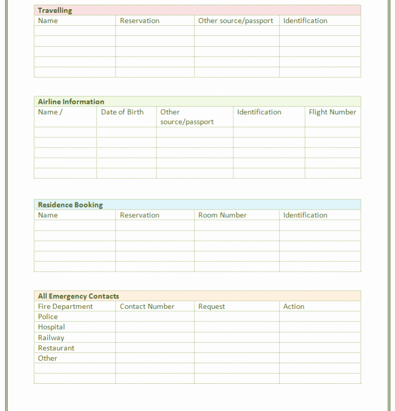 Contact List Excel Template Fresh Paper Contact List Template