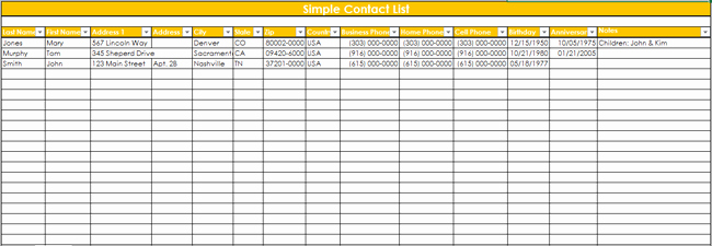 Contact List Excel Template New 9 Customer Contact List Templates In Word and Excel