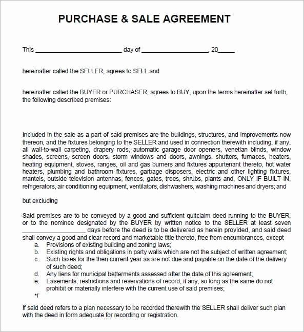 Contract Of Sale Template Awesome 6 Free Sales Agreement Templates Excel Pdf formats