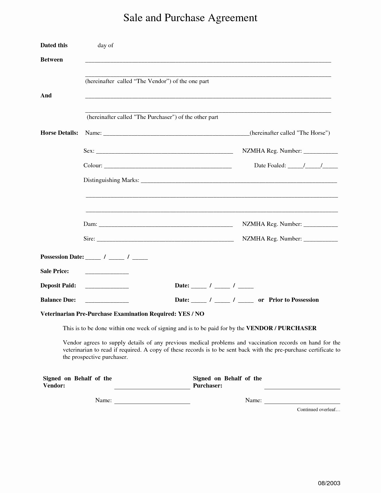 Contract Of Sale Template Best Of 12 Best Of Purchase Sale Agreement form Car