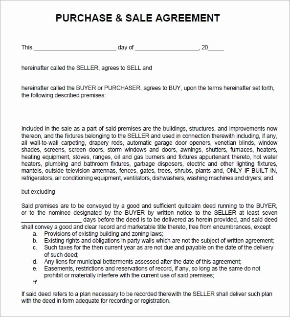 Contract Of Sale Template Elegant 6 Free Sales Agreement Templates Excel Pdf formats