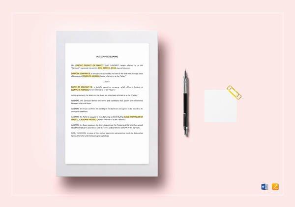 Contract Template Google Docs Elegant 12 Sample Installment Sales Contracts