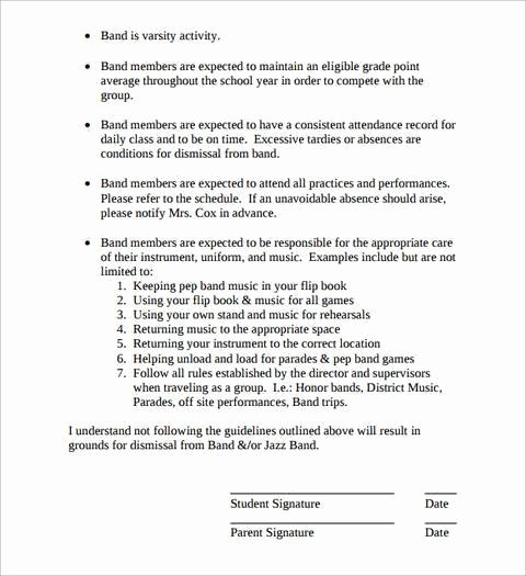 Contract Template Google Docs Fresh 15 Band Contract Templates Pdf Word Google Docs
