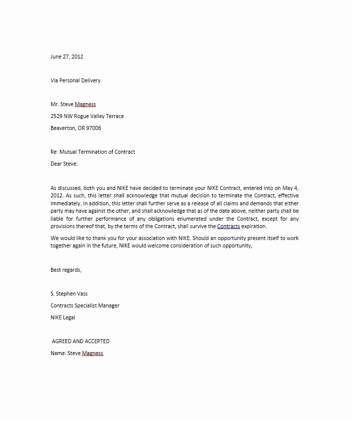 Contract Termination Letter Template Beautiful 35 Perfect Termination Letter Samples [lease Employee