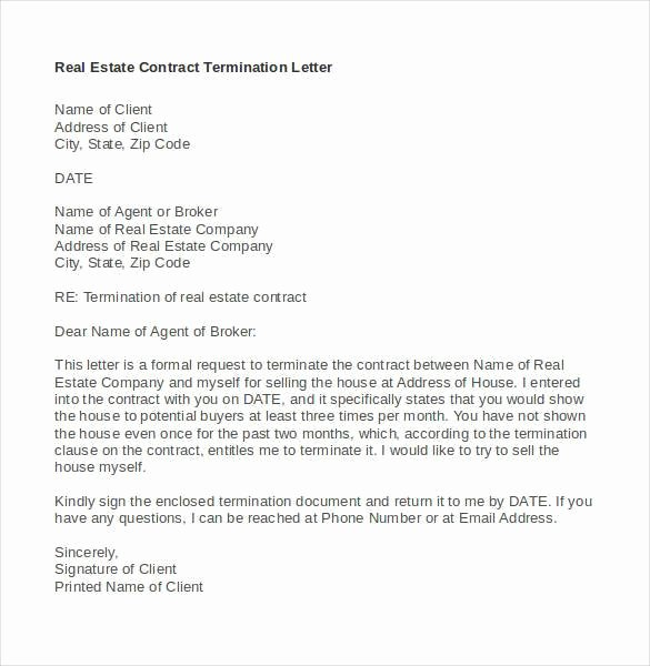 Contract Termination Letter Template Unique 22 Contract Termination Letter Templates Pdf Doc