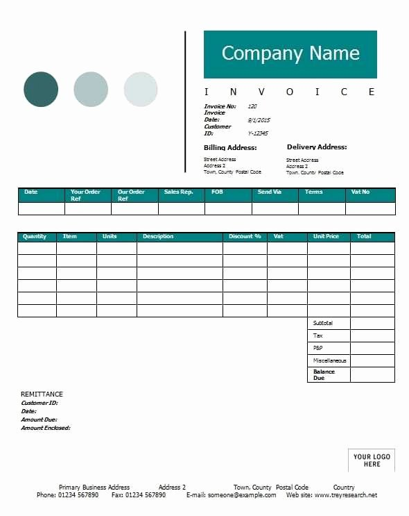 Contractor Invoice Template Excel Best Of Contractor Invoice Template Printable Word Excel