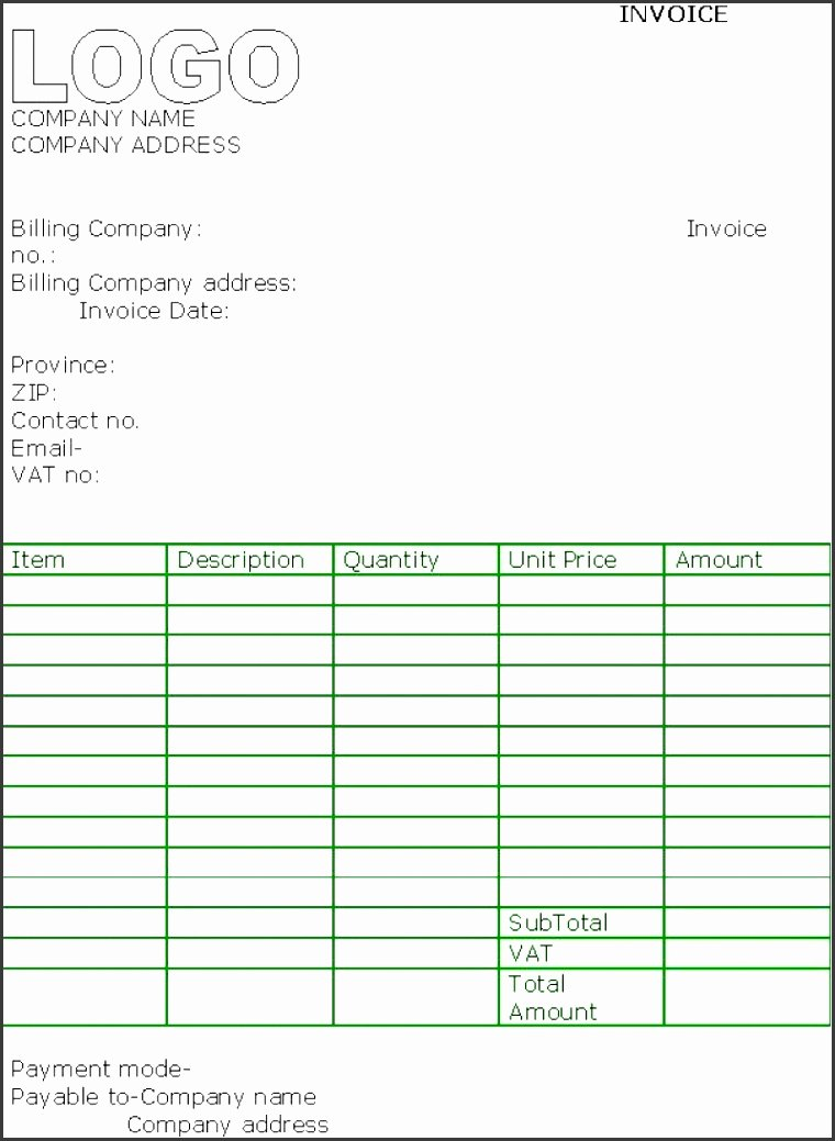 Contractor Invoice Template Excel Elegant 5 Free Contractor Invoice Template In Excel