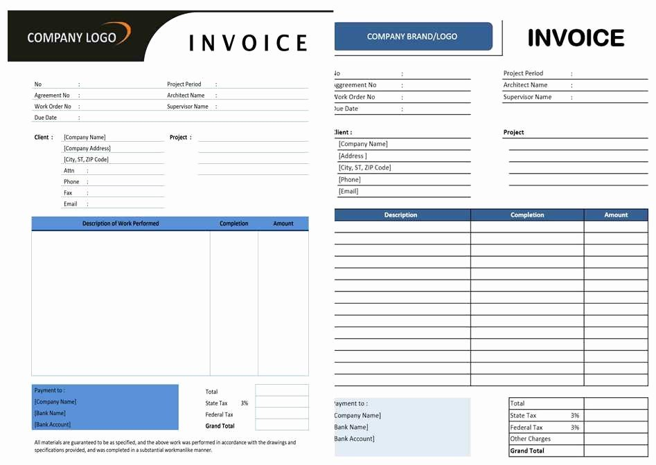 Contractor Invoice Template Excel Inspirational Free Contractor Invoice Template