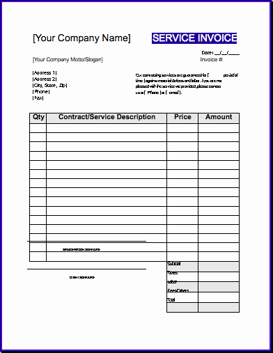 Contractor Invoice Template Free Awesome Contractor Invoice Template Uk