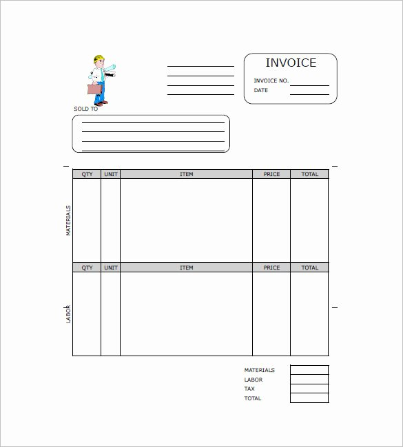 Contractor Invoice Template Free Beautiful Contractor Invoice Template 8 Free Word Pdf format