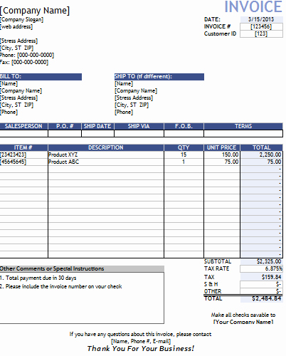 Contractor Invoice Template Free Elegant Invoice Template Contractor