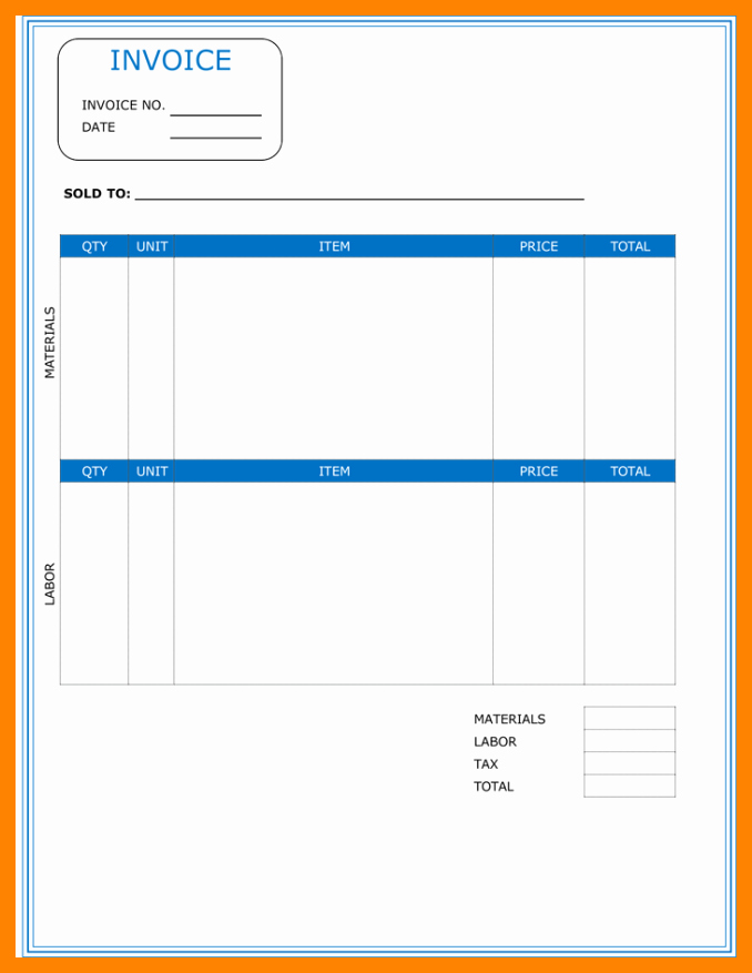 Contractor Invoice Template Free Lovely 5 Free Printable Contractor Invoice Template