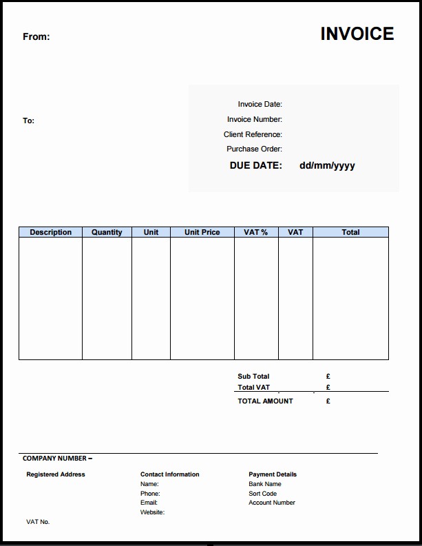 Contractor Invoice Template Free Luxury Free Invoice Template Uk Use Line or Download Excel & Word