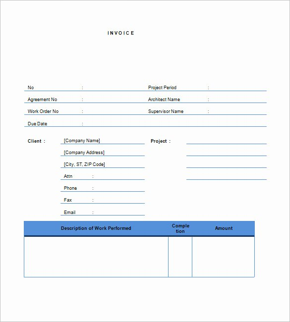 Contractor Invoice Template Word Best Of Free Contractor Invoice Templates