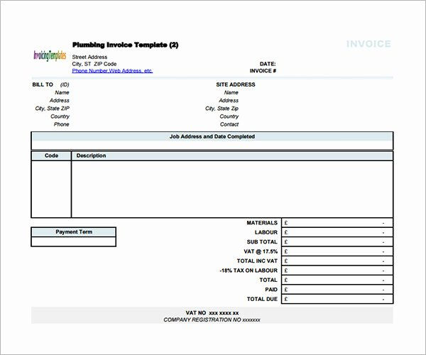 Contractor Invoice Template Word Inspirational Sample Contractor Invoice Templates 14 Free Documents