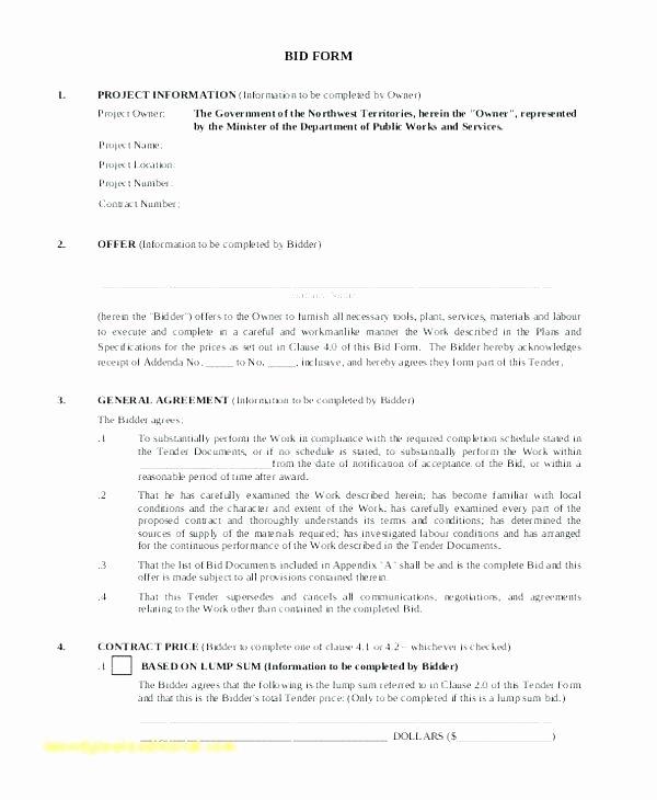 Contractor Proposal Template Pdf Beautiful Construction Proposal form – Puebladigital