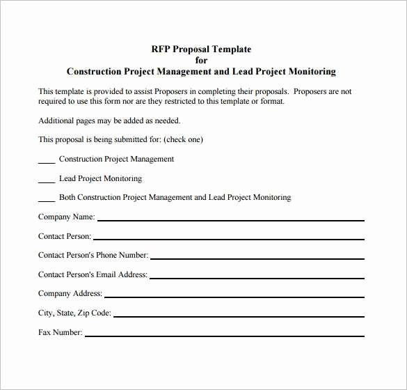 Contractor Proposal Template Pdf Beautiful Contractor Proposal Template Pdf Elegant Free Job Proposal