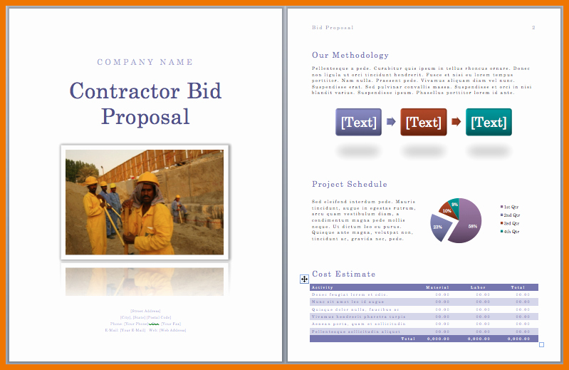 Contractor Proposal Template Pdf Elegant Construction Bid Template Pdf Makegreatest