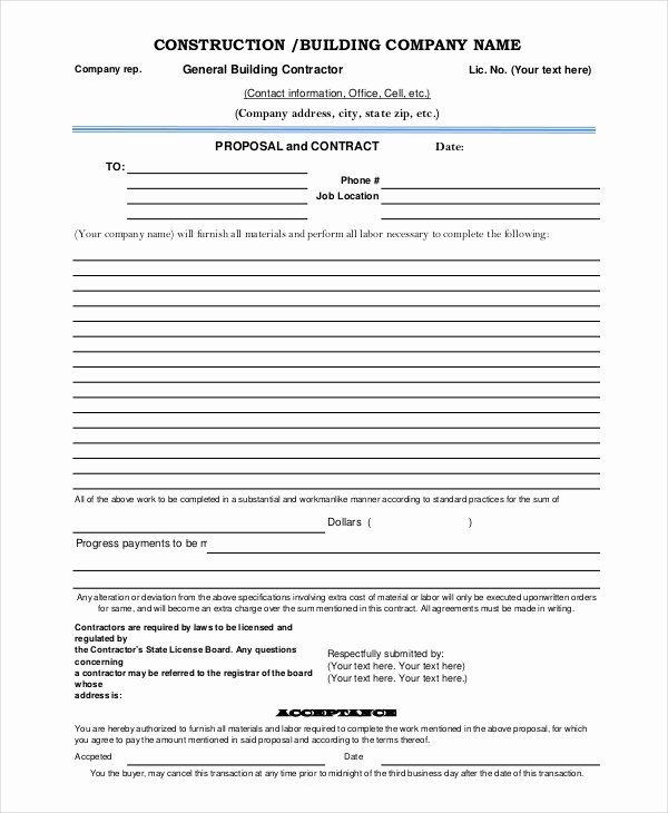 Contractor Proposal Template Pdf New Proposal Template 8 Free Word Pdf Document Downloads