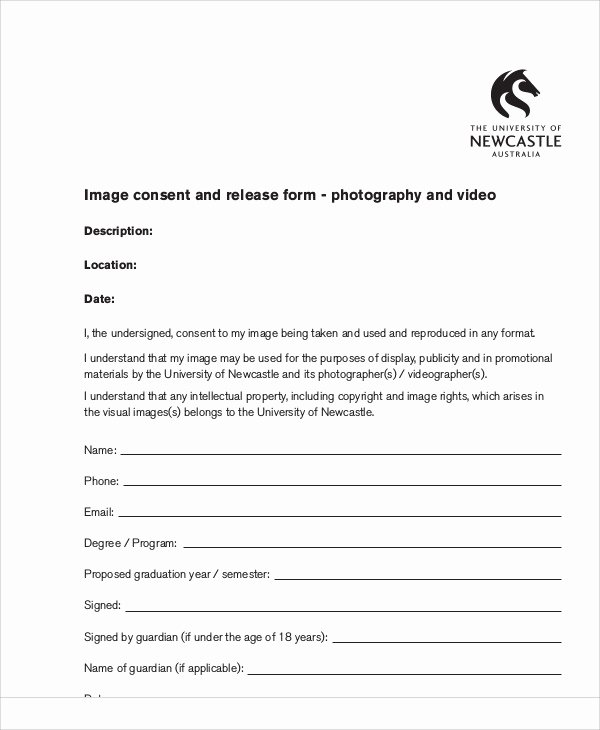 Copyright Release form Template Inspirational 7 Sample Graphy Copyright Release forms
