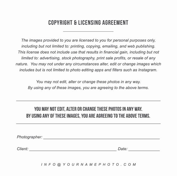 Copyright Release form Template Unique Print Release Templates Marketing Copyright
